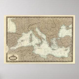 Región mediterránea, Turquía, Grecia Póster