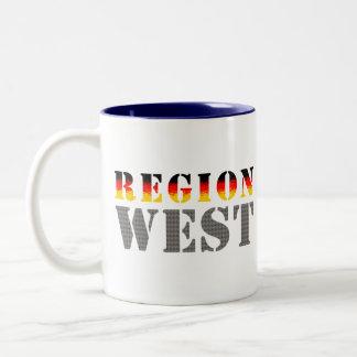 Región occidental alemania occidental taza