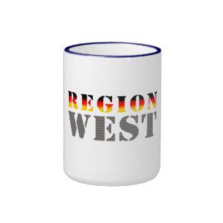 Región occidental alemania occidental tazas de café