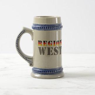 Región occidental alemania occidental taza de café