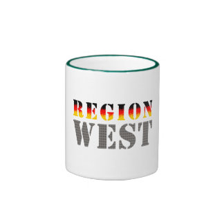 Región occidental alemania occidental taza de dos colores