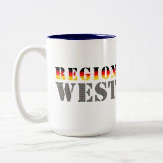 Región occidental alemania occidental taza de dos tonos
