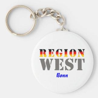 Región occidental Bonn Llavero Redondo Tipo Pin