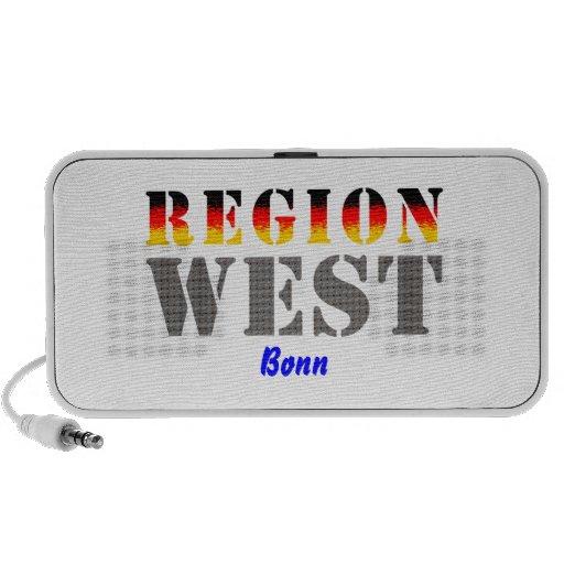 Región occidental Bonn Mp3 Altavoz
