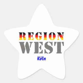 Región occidental colonia pegatina en forma de estrella