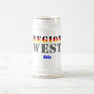 Región occidental colonia taza de café