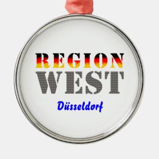 Región occidental Düsseldorf Adorno Navideño Redondo De Metal