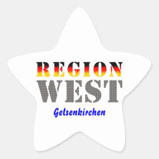 Región occidental Gelsenkirchen Pegatina En Forma De Estrella