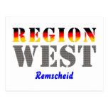 Región occidental Remscheid Tarjeta Postal