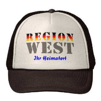 Región occidental Su lugar de nacimiento Gorras
