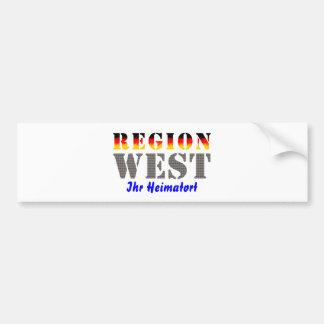 Región occidental Su lugar de nacimiento Pegatina Para Auto