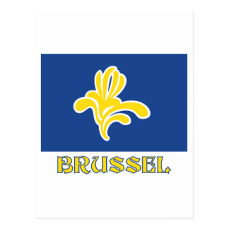Region of Brussels Flag with Name (Dutch) Postcard