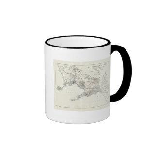 Region of Naples Italy Ringer Coffee Mug