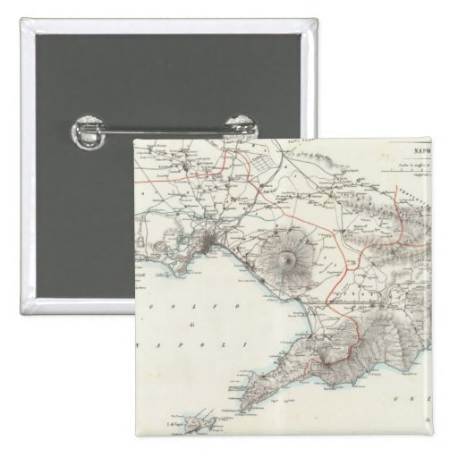Region of Naples Italy Pinback Button