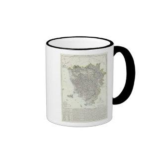 Region of Tuscany Italy Ringer Coffee Mug