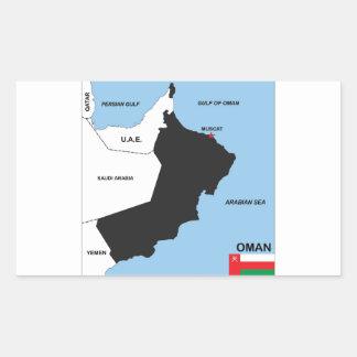 región política del distrito de la bandera del pegatina rectangular