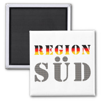 Region south - South Germany 2 Inch Square Magnet