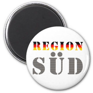 Region south - South Germany 2 Inch Round Magnet