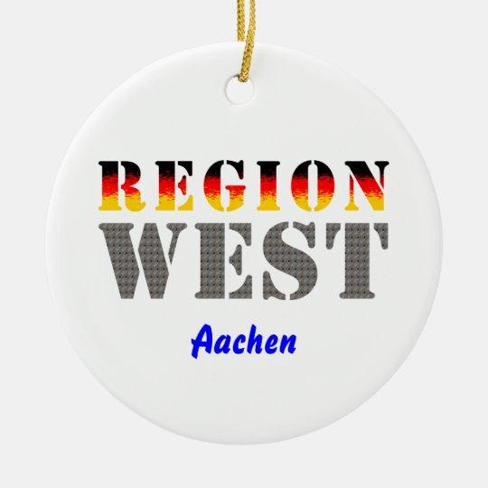 Region west - Aachen Ceramic Ornament