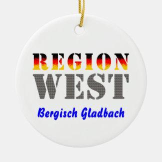 Region west - Bergisch Gladbach Ceramic Ornament