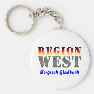 Region west - Bergisch Gladbach Basic Round Button Keychain