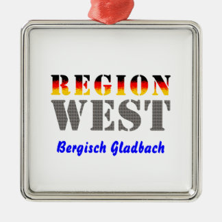 Region west - Bergisch Gladbach Metal Ornament