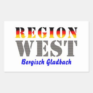 Region west - Bergisch Gladbach Rectangular Sticker