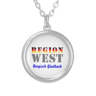 Region west - Bergisch Gladbach Round Pendant Necklace