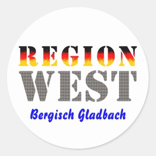 Region West - Bergisch Gladbach Runde Aufkleber