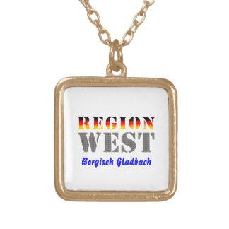 Region west - Bergisch Gladbach Square Pendant Necklace