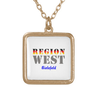 Region west - Bielefeld Square Pendant Necklace