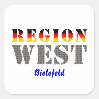 Region west - Bielefeld Square Sticker