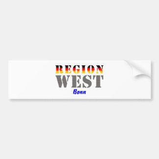 Region west - Bonn Bumper Sticker