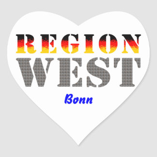 Region west - Bonn Heart Sticker