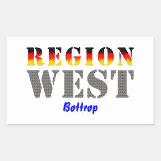 Region west - Bottrop Rectangular Sticker
