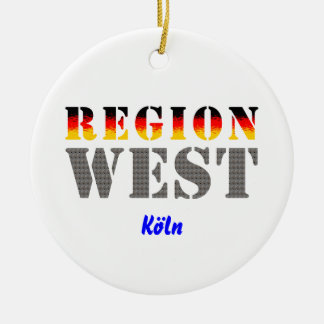 Region west - Cologne Ceramic Ornament