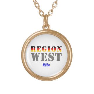 Region west - Cologne Round Pendant Necklace