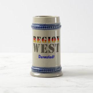 Region west - Darmstadt Beer Stein