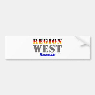 Region west - Darmstadt Bumper Sticker