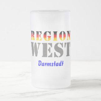 Region west - Darmstadt Frosted Glass Beer Mug