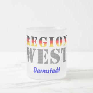 Region west - Darmstadt Frosted Glass Coffee Mug