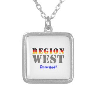Region west - Darmstadt Square Pendant Necklace