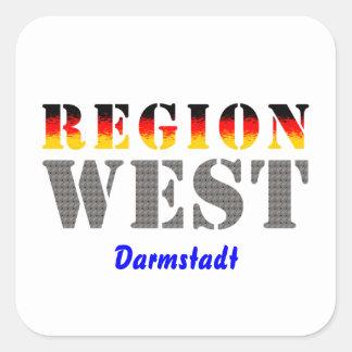 Region west - Darmstadt Stickers