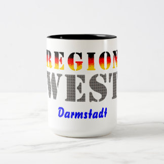 Region west - Darmstadt Two-Tone Coffee Mug