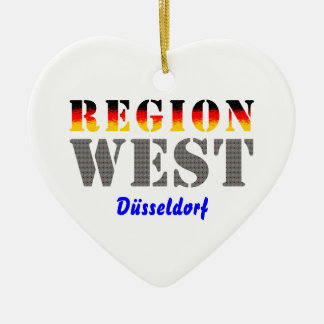 Region west - Duesseldorf Ceramic Ornament