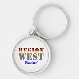 Region west - Duesseldorf Silver-Colored Round Keychain