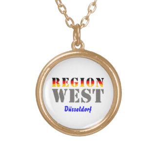 Region west - Duesseldorf Round Pendant Necklace