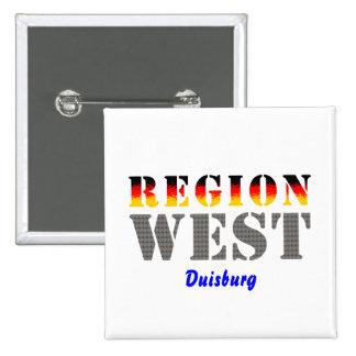 Region west - Duisburg Button