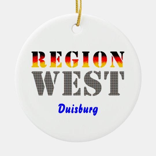 Region west - Duisburg Ceramic Ornament