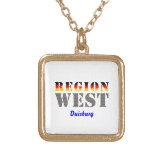 Region west - Duisburg Square Pendant Necklace